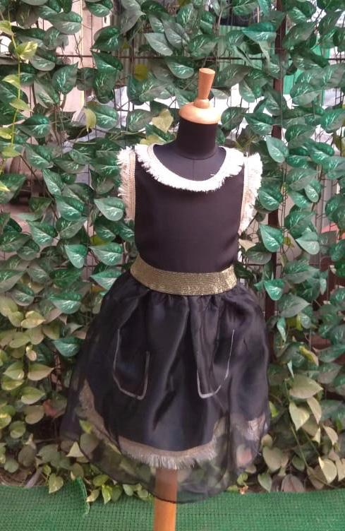 Super Sale -Black and Gold Frock