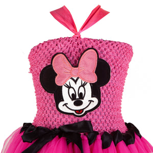 Pink Minnie Mouse  Birthday Frock