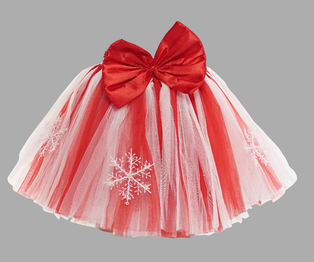Christmas Red and White Tutu Skirt