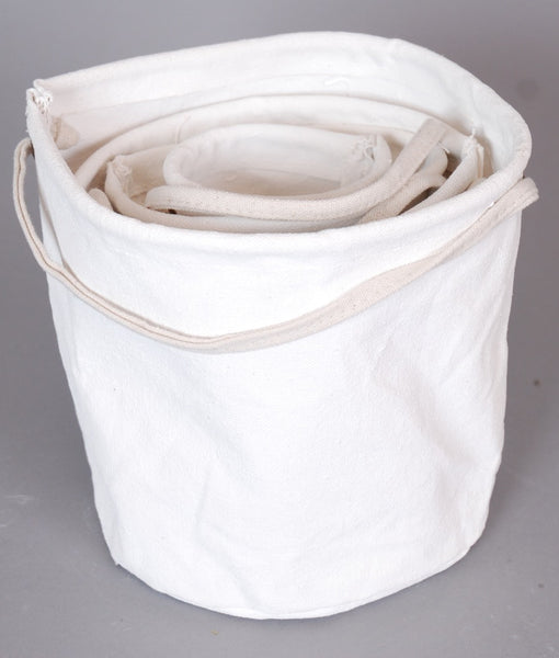 Canvas Storage Pots - set of 4