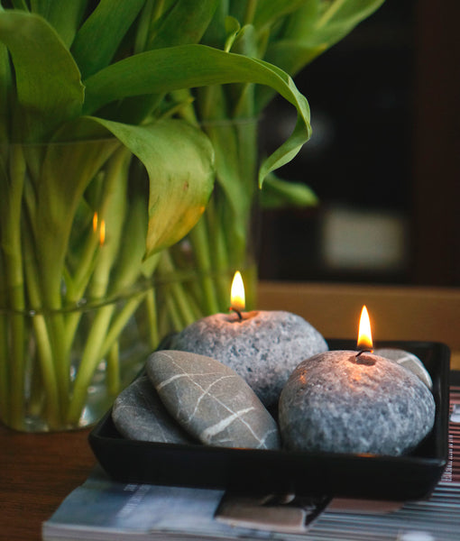Deco Stone Candles
