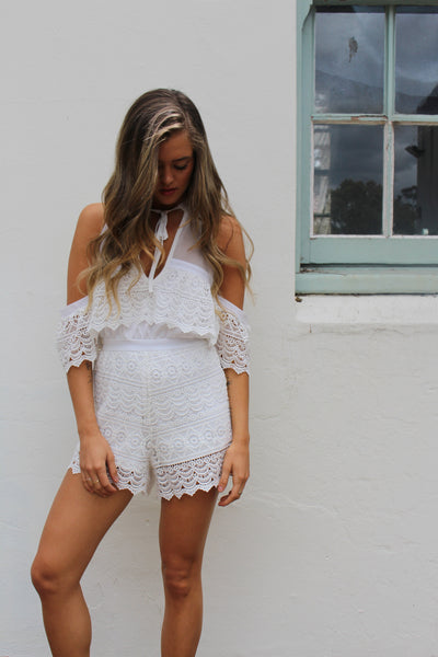 Suited To You Playsuit (White)