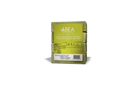 Green Olive Oil Soap with Aloe Vera 125gr 4pack