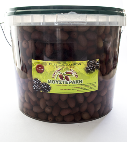 Kalamata Table Olives preserved in vinegar-5kr plastic bucket