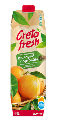 Creta Fresh Organic Orange Juice 1lt