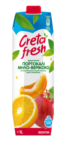 Creta Fresh Orange Apricot Apple Fresh Juice-1lt