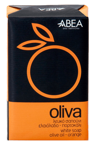 OLIVA white soap with orange 125gr