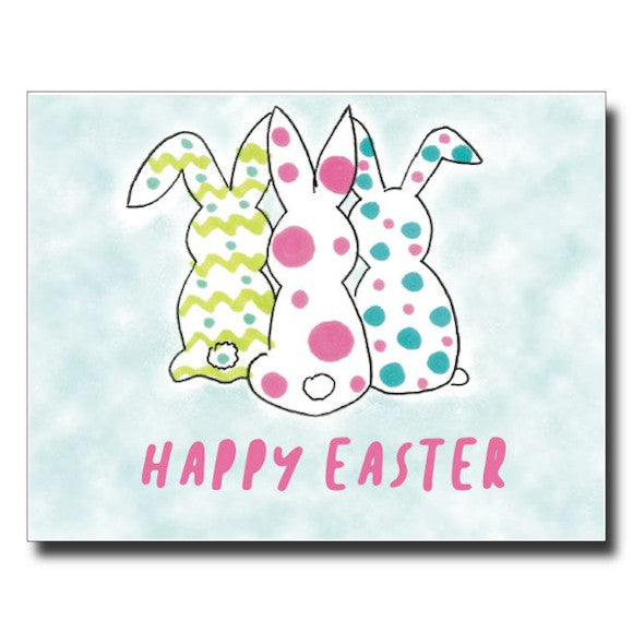 3 Bunnies card by Janet Karp