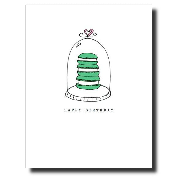 3 Macarons card by Janet Karp