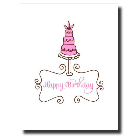 3 Tiered Birthday card by Janet Karp