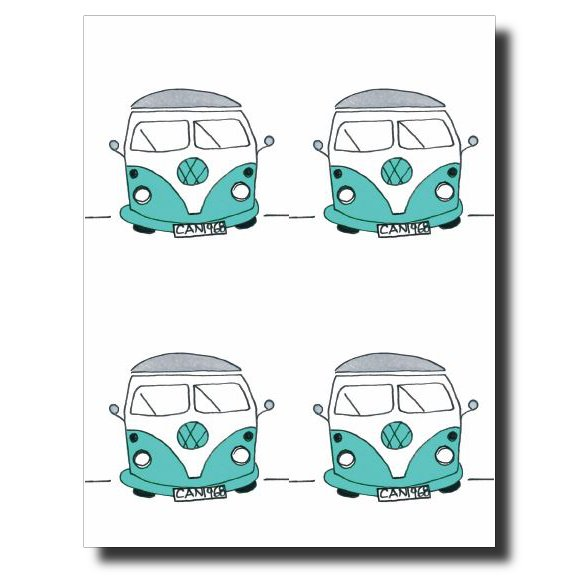 60's Van card by Janet Karp