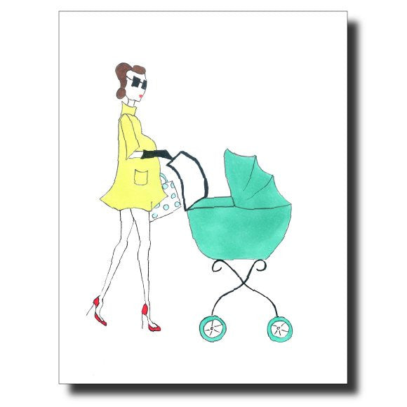 Baby Baby card by Janet Karp