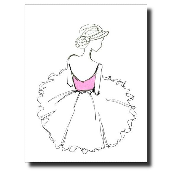 Ballerina Girl card by Janet Karp