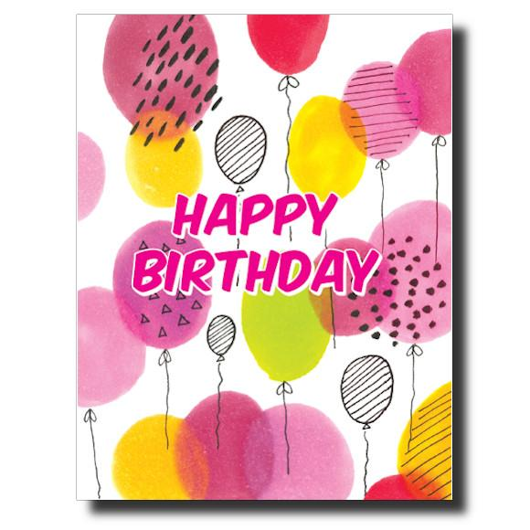 Balloon Birthday card by Janet Karp
