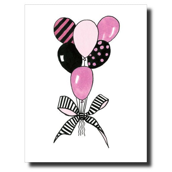 Balloon Bouquet card by Janet Karp