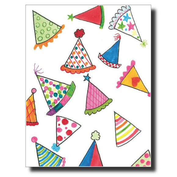 Birthday Hats card by Janet Karp