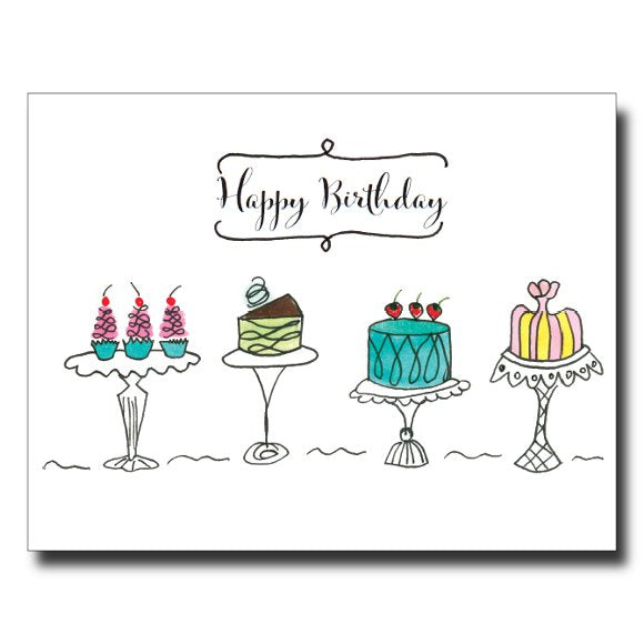 Birthday Pastries card by Janet Karp