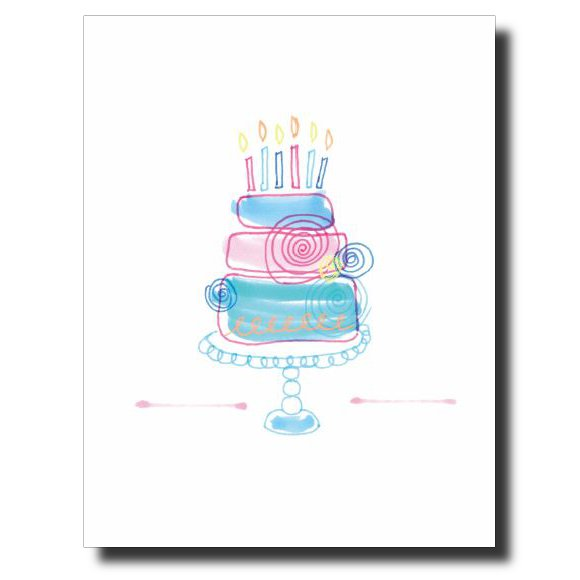 Birthday Swirls card by Janet Karp
