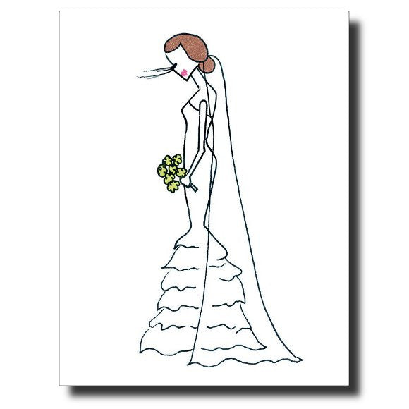 Blushing Bride card by Janet Karp
