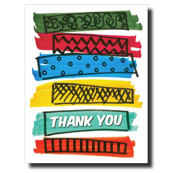 """Bold Thank You"" card by Janet Karp"