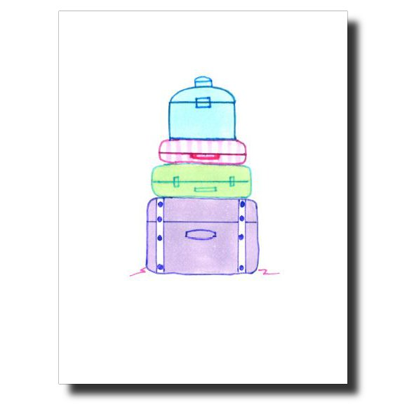 Bon Voyage card by Janet Karp