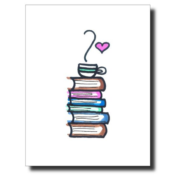 Bookworm card by Janet Karp