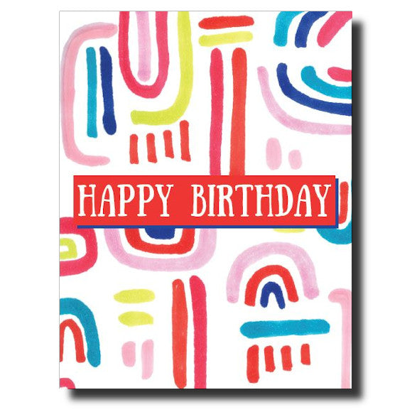 Bright Birthday card by Janet Karp
