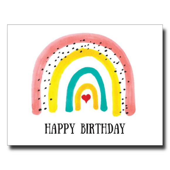"""Bright Rainbow"" card"