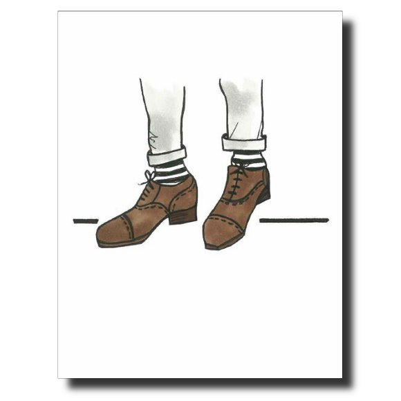 Brown Suede Shoes card by Janet Karp
