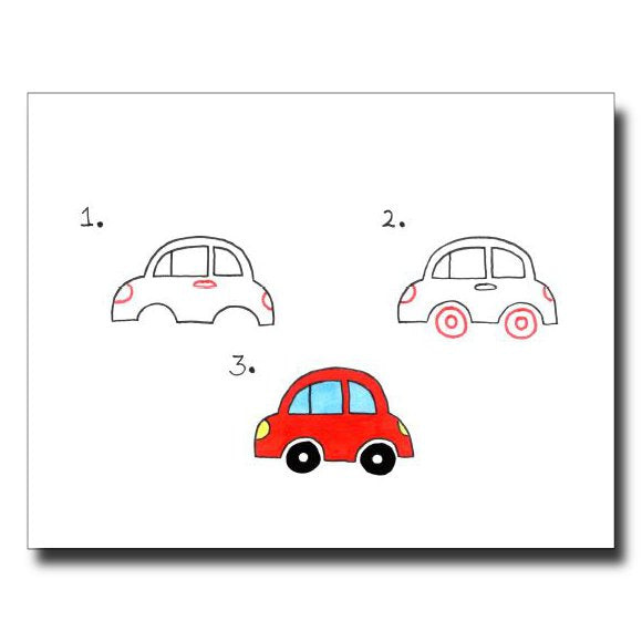Cars 123 card by Janet Karp