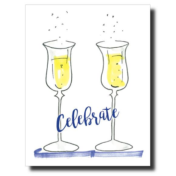 Champagne Celebrate card by Janet Karp