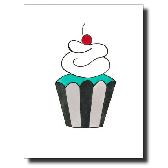 Cherry on Top card by Janet Karp