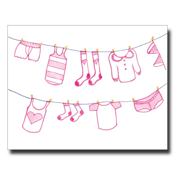 Clothesline card by Janet Karp