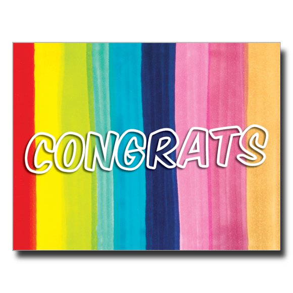 Congrats card by Janet Karp