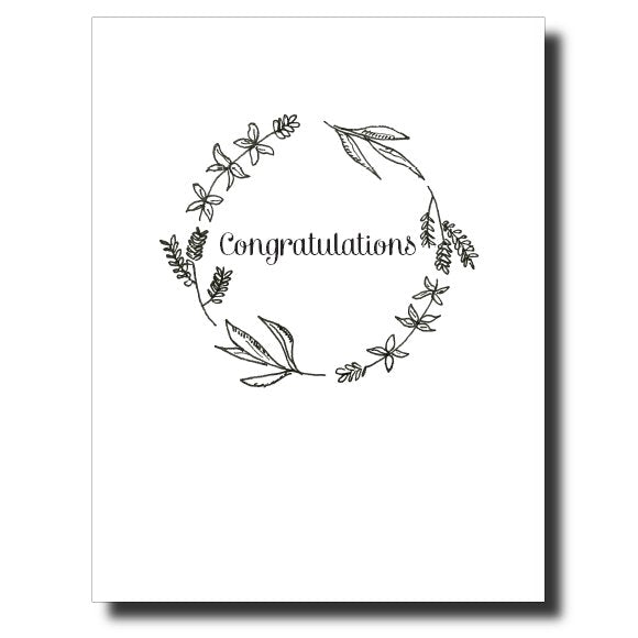 Congratulations Wreath card by Janet Karp