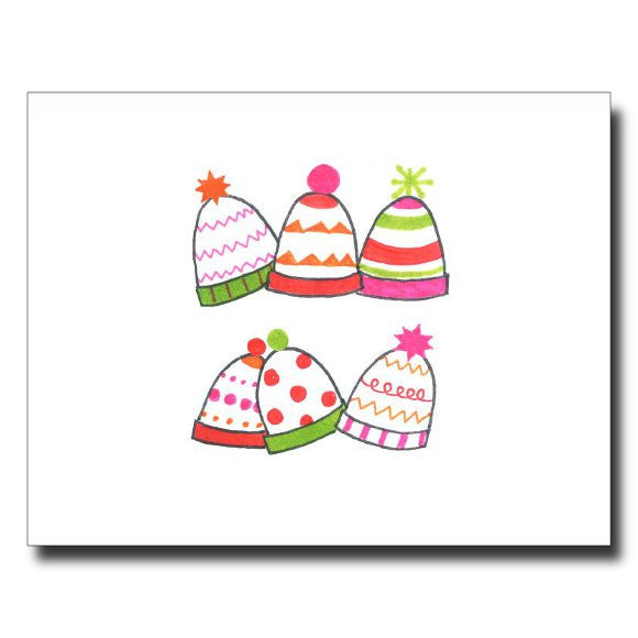 """Cozy Hats - Pink"" card"