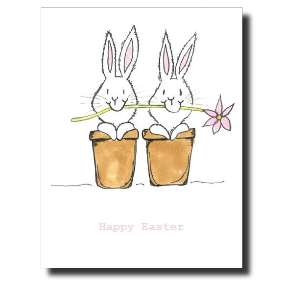 """Easter Bunnies"" card"