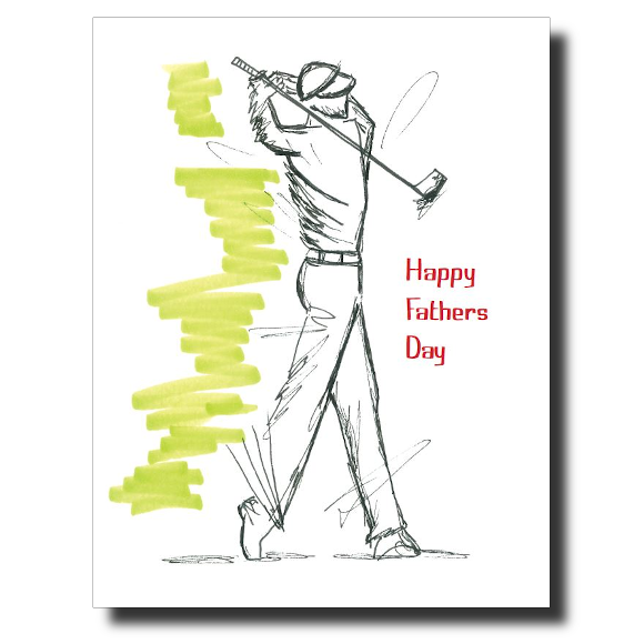 Father's Day Golfer card by Janet Karp