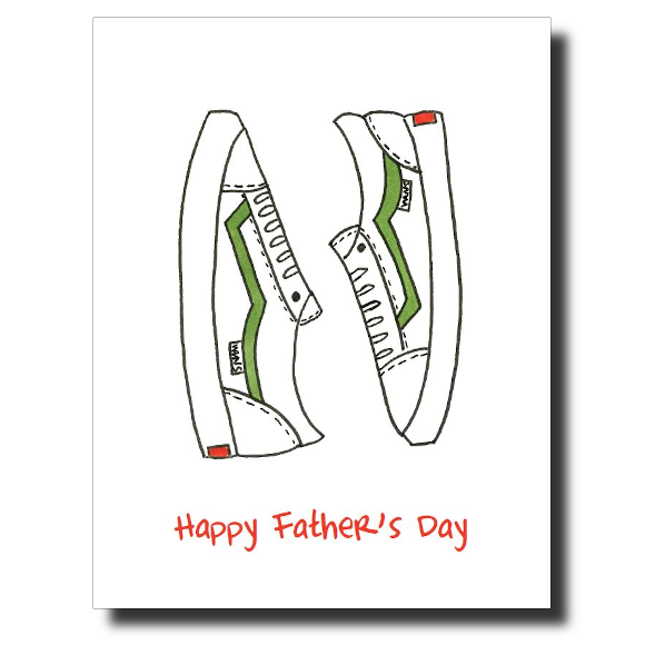 Father's Day Sneakers card by Janet Karp