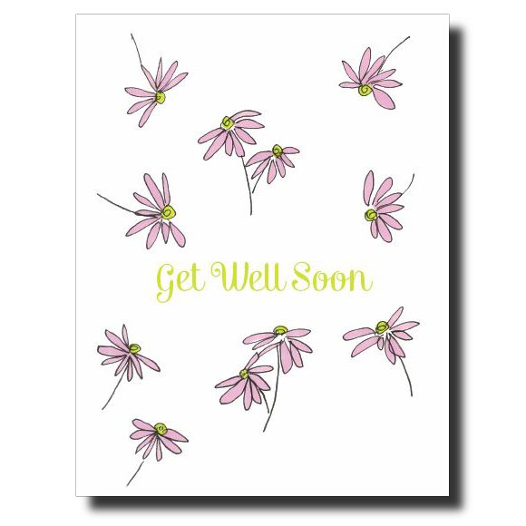 Get Well Soon Pink Flower card by Janet Karp