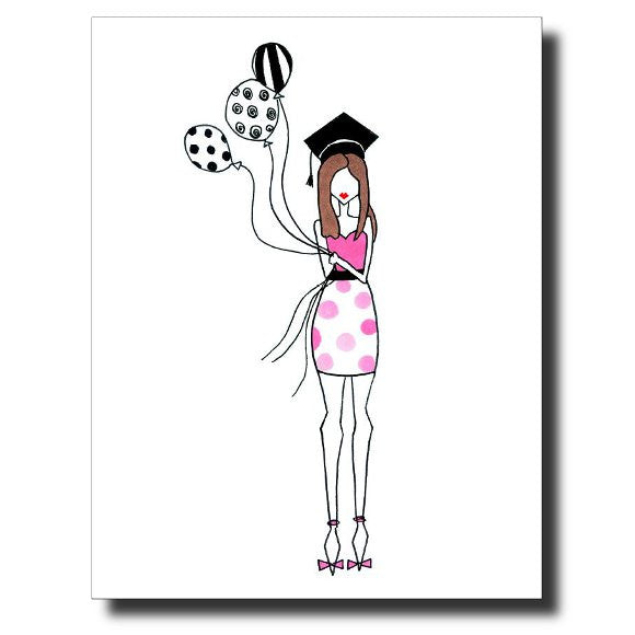 Grad Girl card by Janet Karp