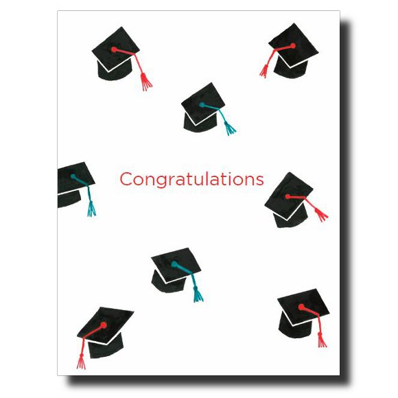 Graduation Caps - Boy card by Janet Karp