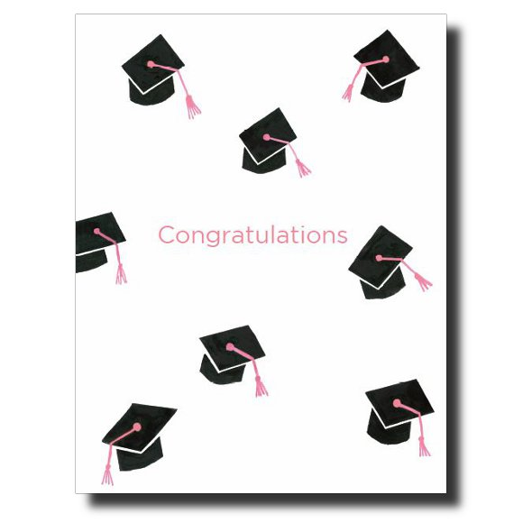 Graduation Caps - Girl card by Janet Karp