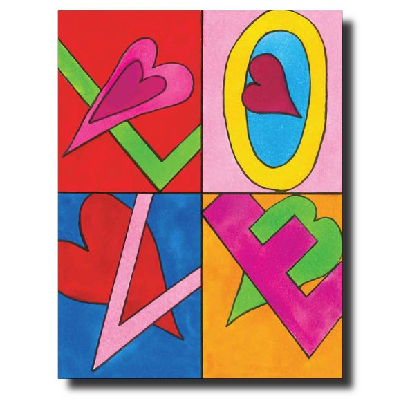 """Graphic Love"" card by Janet Karp"