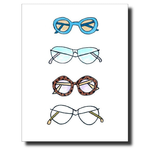 Groovy Glasses card by Janet Karp