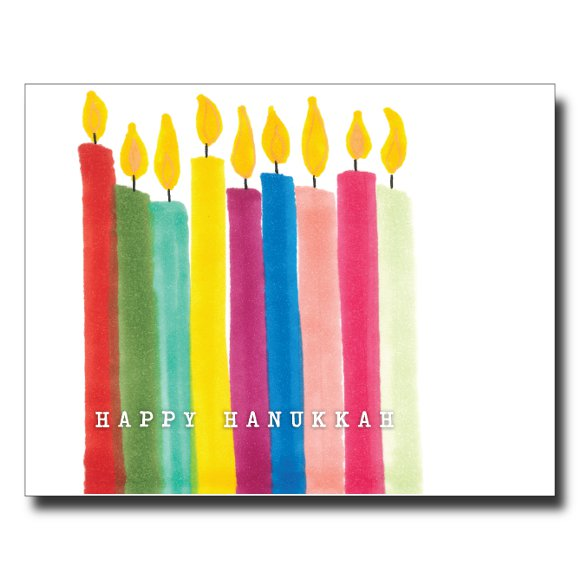 Hanukkah card by Janet Karp