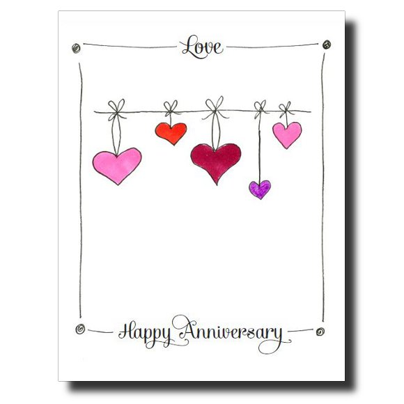 Happy Anniversary My Love card by Janet Karp