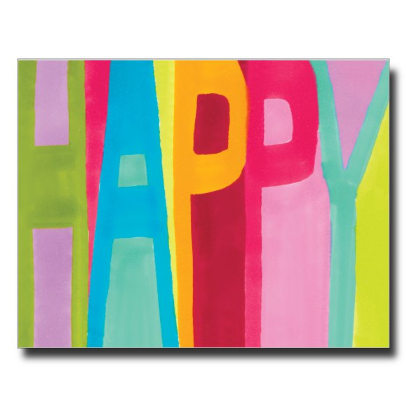 Happy card by Janet Karp