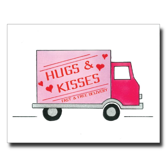 Hugs and Kisses card by Janet Karp