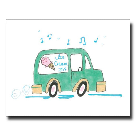 Ice Cream Truck card by Janet Karp